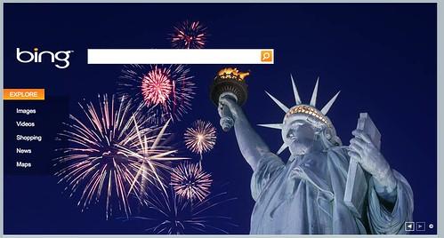 Bing 4th Of July Logo 2009