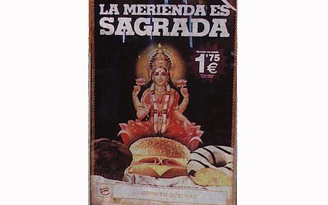 goddess lakshmi on a meat burger