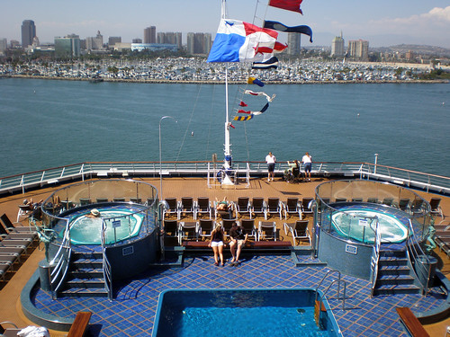 Carnival Splendor, Lido Deck, Aft - Long Beach