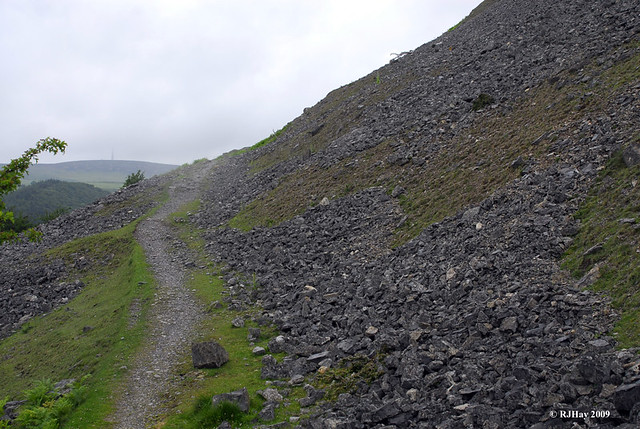 Landslide territory starts the day's hike along the Offa's Dyke Path