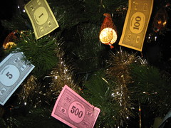 Monopoly money at Christmas