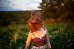 Hair (scifilullabies) Tags: travel camping newyork portraits corn cornfield upstate bbq barbecue upstatenewyork kelly magichour goldenhour hudsonvalley carcamping pineplains ronnybrookfarm swinefest