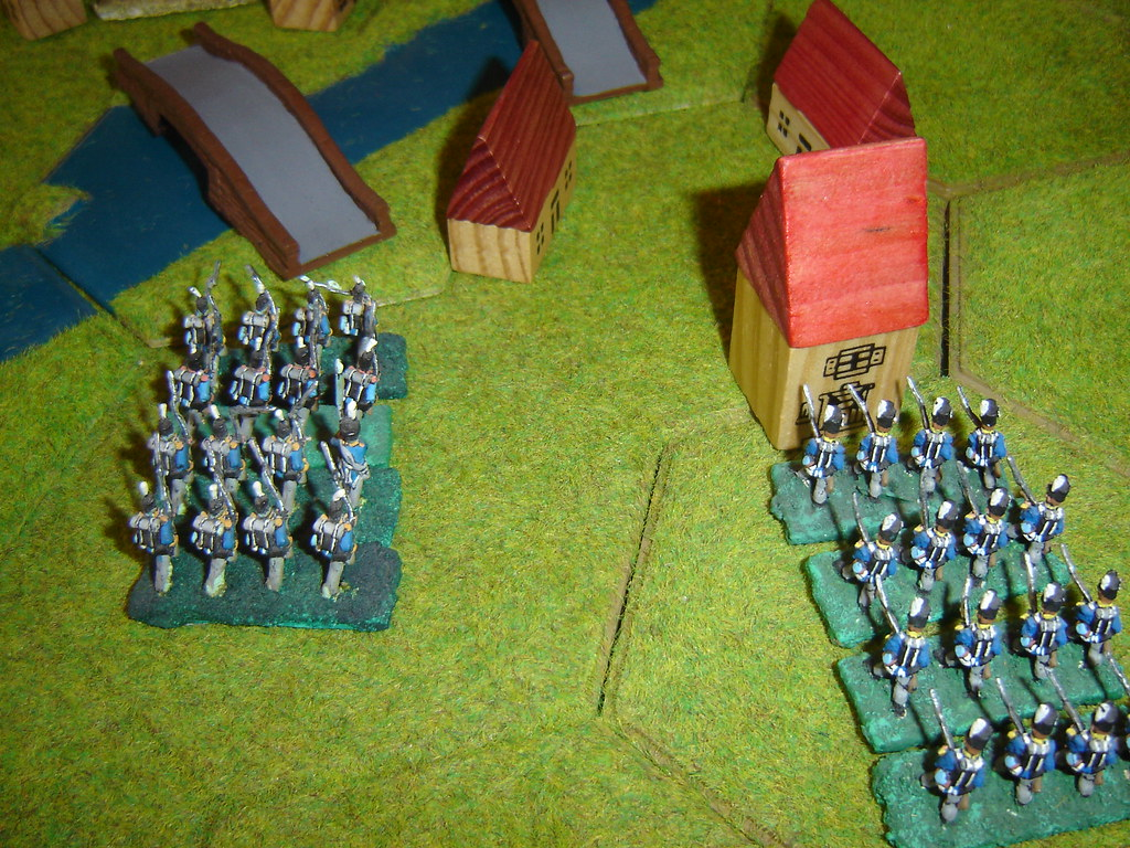 French columns advance to Wavre