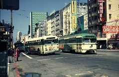 Mack 11 Market Street 061868 (__NightTrain__) Tags: bus san francisco railway muni mack municipal