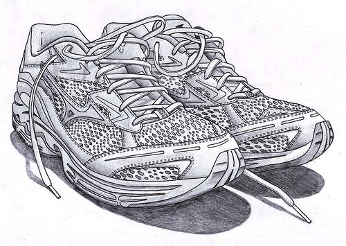 Running shoe sketch