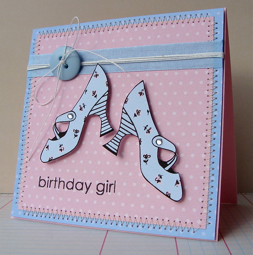 Hero Arts Digital Birthday Card - Fanciful Shoes