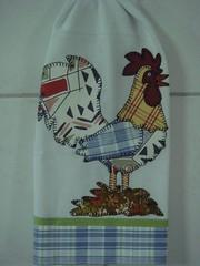 Galo o dono do pedao... (*Sonhos em Retalhos*) Tags: galinha patchwork cozinha patchcolagem panodeprato