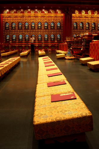 Rows of prayer seats