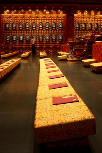Rows of prayer seats