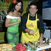 Miss Ava Cado and Food Network Chef Juan Salinas