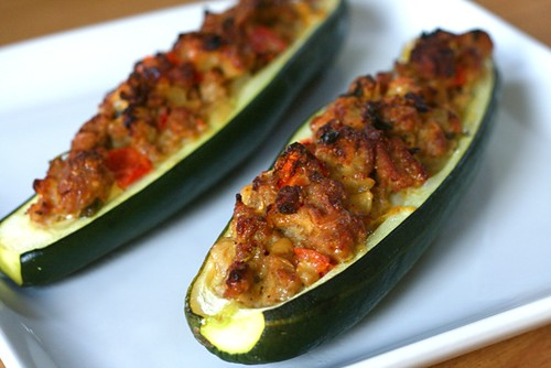 Stuffed Zucchini Boats | Annie's Eats
