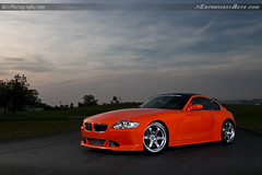 TC Kline Carbon Coupe (dkfx photography) Tags: orange 2006 bmw rays cf volk carbonfiber mcoupe mpower te37 tckline tcklineracing carboncoupe dkfx enthusiastauto dkfxphotography