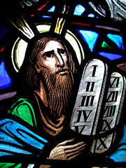 Horned Moses (jere7my) Tags: vacation church window tencommandments iii maine horns stainedglass x moses v ii viii iv stainedglasswindow anglican episcopal vii vi ix mountdesertisland mdi episcopalchurch swil stsaviour stonetablets i saintsaviour swilvacation stsavioursepiscopalchurch