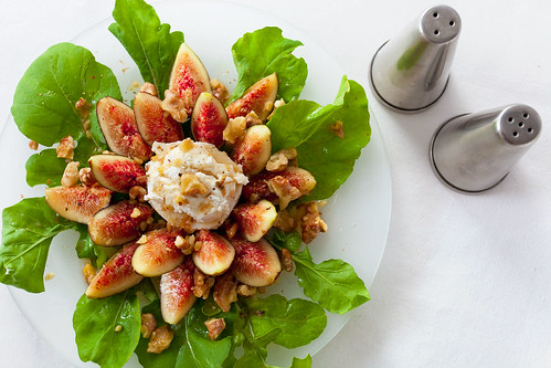 Fig, Walnut & Goat Cheese Salad