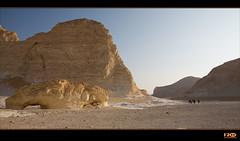 Way to Breakfast (Monika Ostermann) Tags: blue white mountains sand desert egypt bluesky whitedesert skulptures