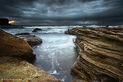 Overcast Morning (-yury-) Tags: ocean morning sea beach water clouds canon rocks sydney australia explore 5d frontpage avalon
