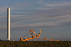 Waubra Wind Farm (blachswan) Tags: sunset construction crane windtower mcnallys waubrawindfarm