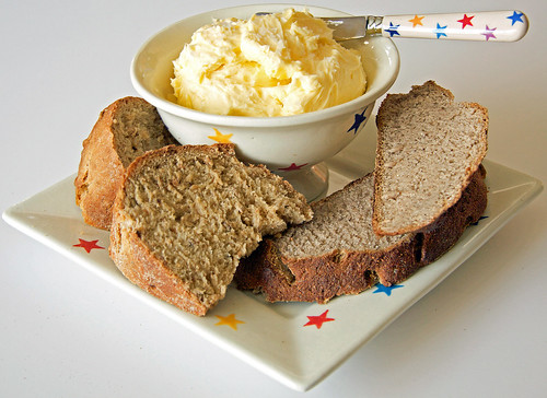 Chestnut Bread, Hazel Maizel Bread and Home Made Butter