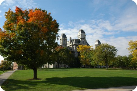 on campus at the University of Syracuse