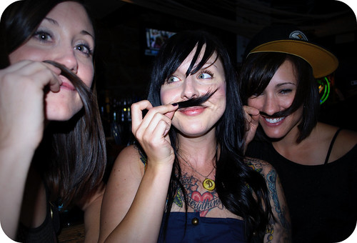 moustache? I look gross but this is HILARIOUS of cute Shirls so it stays.