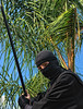 Ninja (❀Patti-Jo) Tags: fiction black halloween festive japanese costume nikon fighter ninja sewing folklore homemade fantasy covert spy sword mysterious stealth historical nikkor filters legend myth vr ninjutsu artofwar shinobi feudal mercenary invisibility 18200mm unorthodox d80 colorefexpro simplicitypattern niksoftware