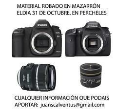 camaras robadas en Percheles (Daniel Jose Aragon Garcia) Tags: canon murcia material mazarron robado percheles