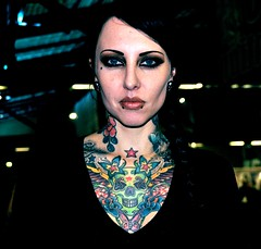 Makani Terror (_MissAgentCooper) Tags: color berlin colors rose tattoo butterfly germany deutschland skull tatoo totenkopf tattooed flyung tattooconventionberlin