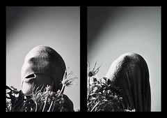 """4/365 """"Foul Growth"""" (David Reisinger Photography) Tags: flowers man face trapped mask wrapped growth covered blanket foul"""