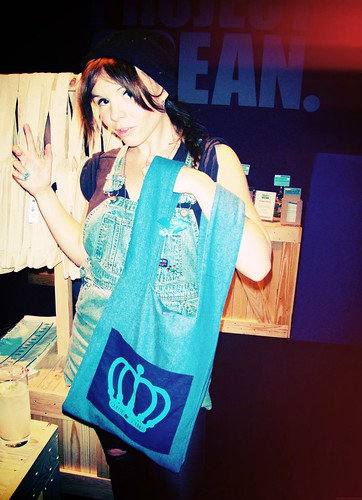 Queens Of Sounds Denim Super Eco bag- Rosie Bones by queensofsounds