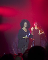a moment for a drink and a smile (Jens.Verboven) Tags: red brussels smile raw belgium stage joy moby brussel botanique violinist haveadrink