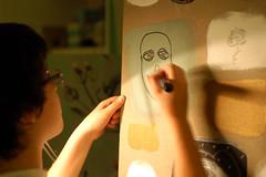 Atelier BiBi (Atelier BiBi) Tags: italy selfportrait studio arte turin disegno pittura todraw largomontebello atelierbibi vanchigliaopenlab lov2011
