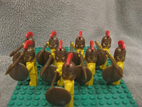 Spartan custom minifigs