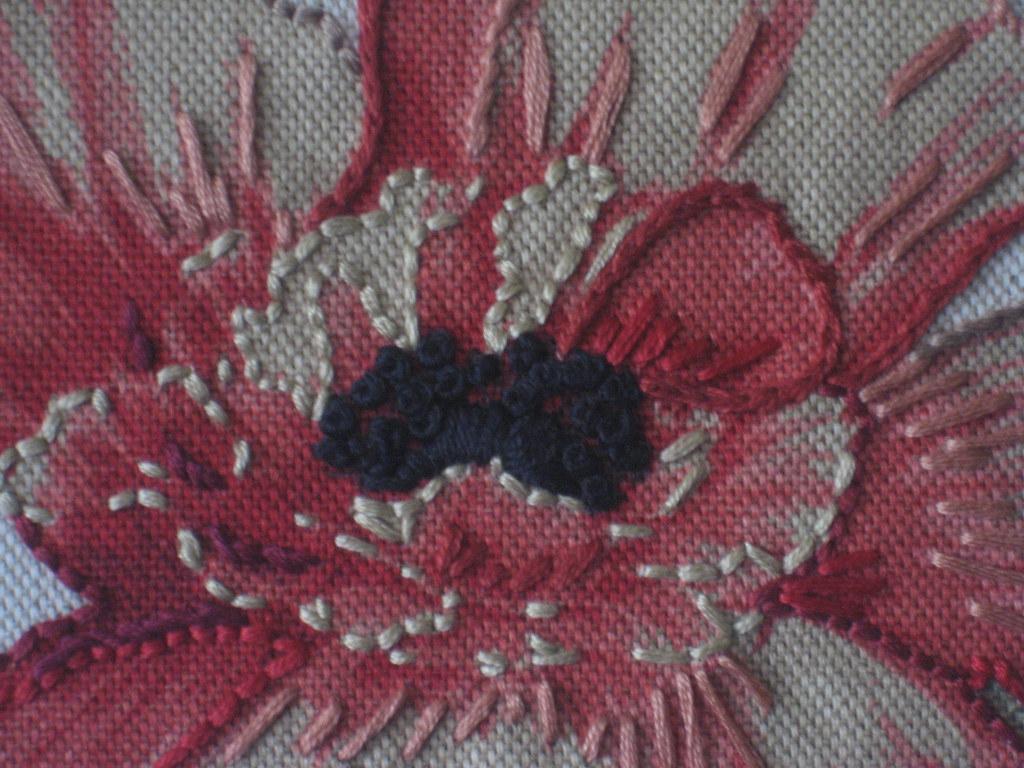 Emrboidered Fabric -- Up Close
