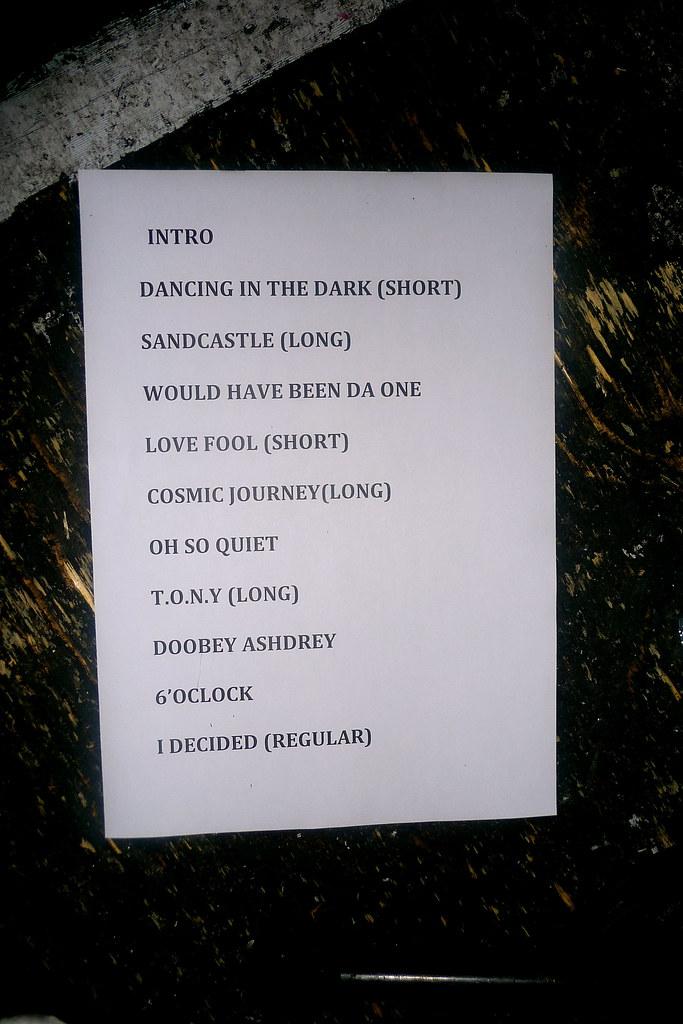 The Setlist..