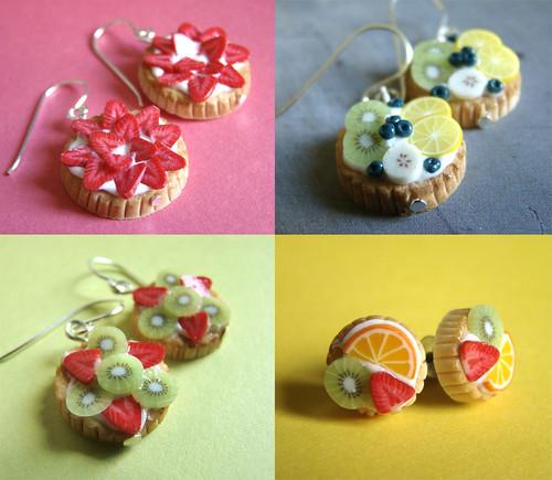 Earrings Miniature Fruit Tart Collection by PetitPlat - Stephanie Kilgast