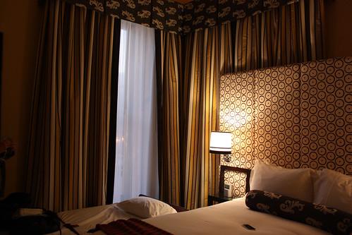 The new bedroom at Hotel Monaco