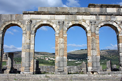 Arches Of The Forum (MykReeve) Tags: sky stone wall countryside arch roman horizon arches morocco volubilis    geo:lat=34073004 geo:lon=5554571