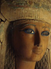 Face Thief (meechmunchie) Tags: ancient egypt egyptian sarcophagus mummy coffin dynasty funerary 22nd ancientegypt libyan priesthood papacy cartonnage newkingdom 21stdynasty mummycase 22nddynasty psusennes herihor yellowtype rammeside