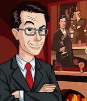 Stephen Colbert avatars on Yahoo!
