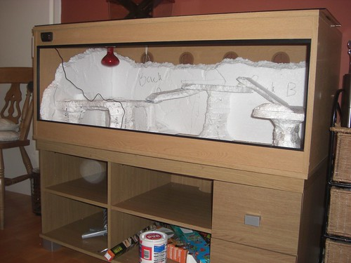 How I Made My First Fake Rock Bearded Dragon Enclosure Pic Heavy