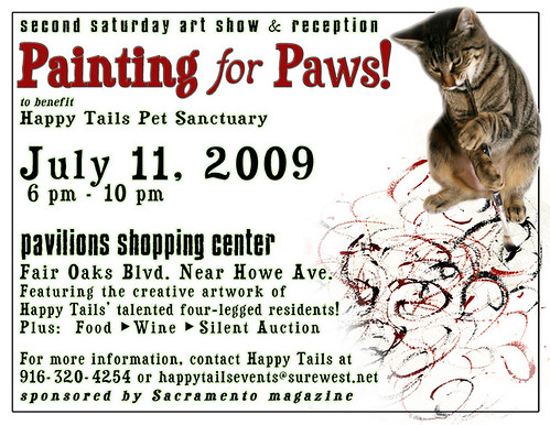 Painting For Paws 2009 Flyer