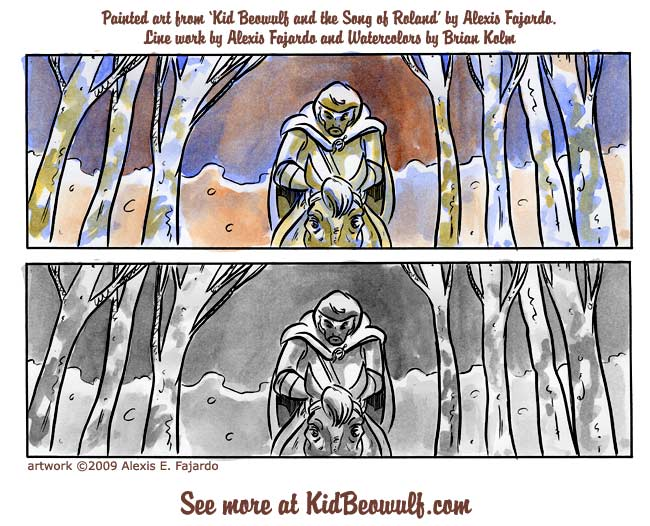 Kid Beowulf and the Song of Roland production work