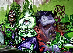 Nychos, Wany, Aryz (Romany WG) Tags: london art graffiti meeting line shoreditch end styles aerosol 2009 the wany nychos of aryz