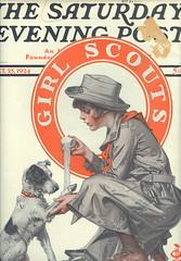 Saturday Evening Post, Oct 25, 1924 Girl Scout Cover (contrarymary) Tags: girl scouts girlscouts scouting girlscout thesaturdayeveningpost