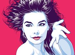 Björk Art (Mel Marcelo) Tags: portrait face fashion hair vectorart bjork björk grafx adobeillustrator spotcolors melmarcelo meltendo mpyregraphics melitomarcelo