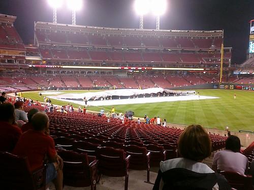 Rain delays Reds game