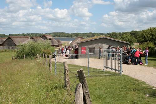 Eingang auf die Museumsfreifläche mit den Wikinger Häuser in Haithabu - WHH 27-05-2009