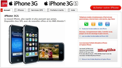 SFR iPhone 3GS