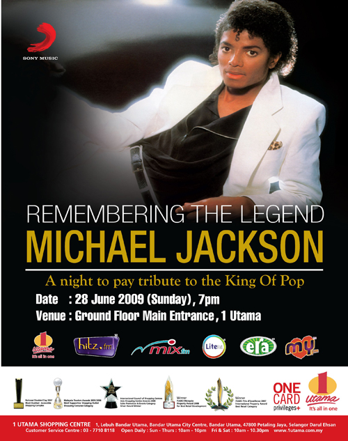 REMEMBERING THE LEGEND – MICHAEL JACKSON @ 1Utama