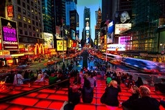 Time Square Evening (NikolaT) Tags: street nyc newyorkcity travel light red usa ny colors yellow photoshop real lab raw timesquare nola 2009 hdr stares cs3 vlue photomatix sigma1020 3exp nikolat nikolatomovic ilovemyxsi